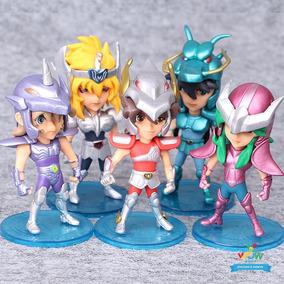 5 Bonecos Miniaturas Cavaleiro Do Zodiaco Saint Seiya A122