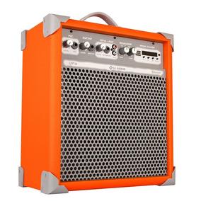 Caixa Multiuso 55 Watts Laranja Usb Up 8 - Ll Audio
