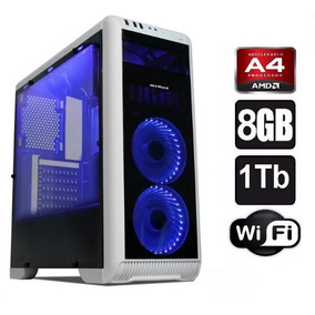 Cpu Gamer Amd A4 / 8gb Ram, Radeon 2gb, 500gb , Wifi , Leds
