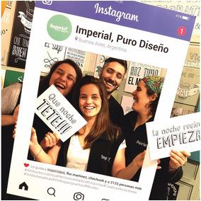 Marco Instagram Facebook Cuadro Cartel 70x100 + 6 Props!