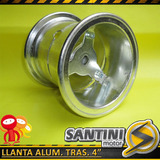 Llanta Aluminio Trasera Rod. 4pulg. Para Mini Cuatriciclo