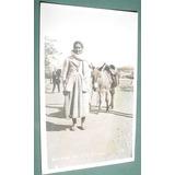 Postal Fotografica Termas Rio Hondo Mujer Burro Costumbres