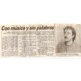 Clipping Pedro Menendez - Recortes (099) Musica Fusion