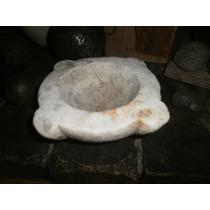 Antiguo Mortero De Marmol Mediano En Buen Estado 15 X 7 Alto