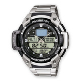Reloj Hombre Reloj Casio Sgw 400 Deportivo Manilla Metálica