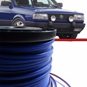 Kit 10mt Friso Azul Alto Colante Parachoque Gol Quadrado