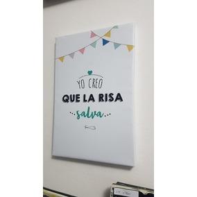 Cuadro Frase La Risa Salva Genial 30x45cm Somos Local Envios