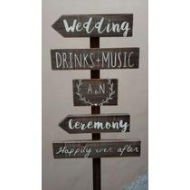 Cartel Para Casamientos Y Eventos En Madera Deco