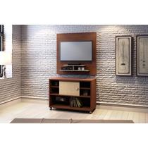 Conjunto Painel Tv 5019 Com Rack 5030 Cor Castanho/avelã