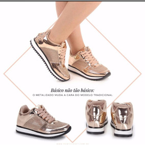 Tênis Feminino Vizzano Ouro/rosado 1234100 Original Promoção