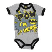 Pañalero Batman Super Poderoso Dc Comic Gris Bebe Ropa 26219