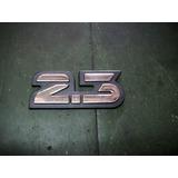 Insignia Ford Sierra 2.3. Baul. (plastico Crom) (autoadh)