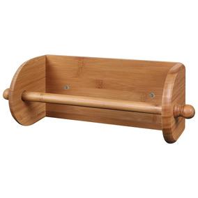 Porta Papel Toalha Madeira Bamboo Cozinha Moderna Mor