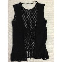 Chaleco De Angora Al Crochet Tejido A Mano, Terminado A Mano
