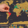 Mapa Mundi Raspadinha Raspe Os Lugares Visitados 42 X 30 Cm