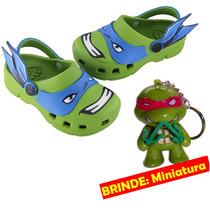 Babuche Original Infantil Sandália Fantasia Tartaruga Ninja