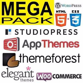 Pacote De Temas Plugins Wordpress E Woocommerce - 2017