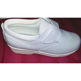 Zapato Blñanco Cerrado Enfermeria Dra Vidal Varios Talles