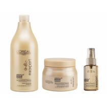Shampoo 750ml, Mascarilla 500ml, Serum 50ml Absolut Repair
