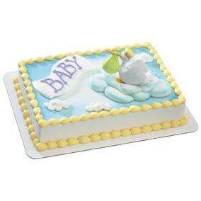 Entrega Especial De La Decoración De La Torta De La Cigüeña