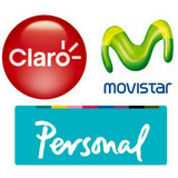 Chip Prepago Movistar, Personal, Claro
