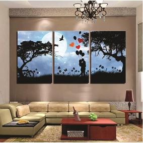 Quadro Decorativo 60x120cm Árvore Azul Salas Ref 114