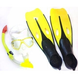 Kit Mergulho Completo Mascara, Snorkel E Nadadeira Olymport