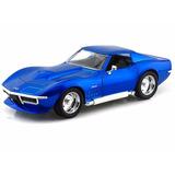 Auto De Coleccion 1969 Chevy Corvette Stingray Metal Orig.