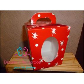 10 Caja Loncheras Carton Dulceros Bolsitas Navidad Fiesta