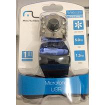 Webcam Multilaser 5mp Com Microfone Embutido - Wc040