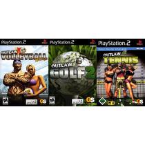 Outlaw Tennis Para Playstation 2 (kit 3 Jogos Ps2 Esporte