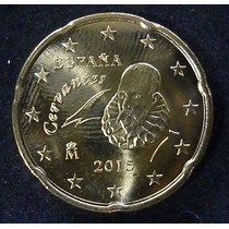 España Moneda Miguel De Cervantes 20 Centavos De Euro 2015