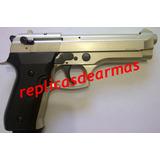 Beretta 92 Ametralladora Replica De Fogueo Sup. 9 Mm