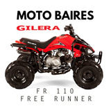 Cuatriciclo Gilera Fr 110 Automatico 0km Free Runner Cuotas!
