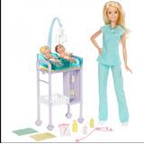 Boneca Barbie Profissões Pediatra Gêmeos Loira Mattel