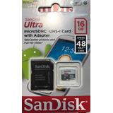 Memoria Sandisk Micro Sd 16gb C10 Mar Del Plata Oferta!