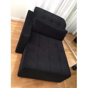 Chaise (poltrona / Sofa Grande Para Deitar) Na Cor Preta
