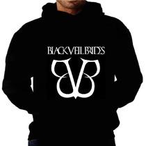 Blusa Moletom Black Veil Bvb Capuz Bolso Bandas Rock Moleton