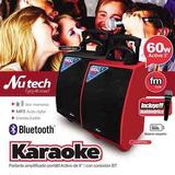 Amplificador Portatil Recargable Karaoke Bluetooth Microfono