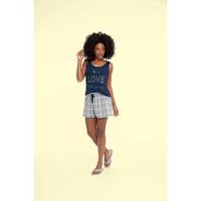 Short Doll Feminino Adulto Viscolycra Quadrado - Ref. 13120