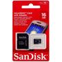 Cartão De Memória Sandisk 16gb Microsd + Adaptador Lacrado!