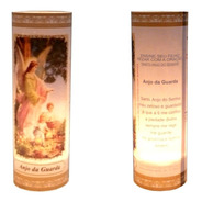 3 Velas Votivas 7 Dias Imagem Anjo Da Guarda Oração Mágica
