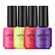 Esmalte Meline Semipermanente X6 Unidades Color Gel Uv/led