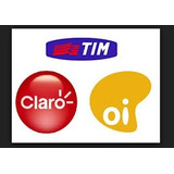 Recarga De Celular Tim, Oi E Claro R$ 10,00