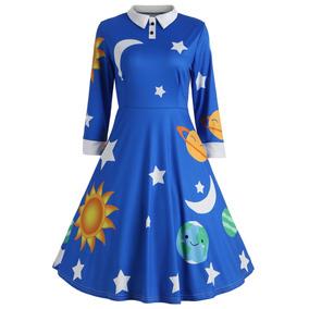 Vestido de bella azul