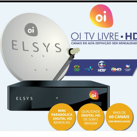 Receptor Elsys Oi Tv Livre Etrs35 Antena 60cm + Lnb Duplo