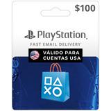 Tarjeta Psn $100 Digital -valida Usa   Entrega Inmediata