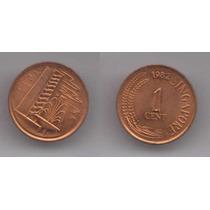 Singapur 1982 Moneda De 1 Cent De Cobre Sin Circular