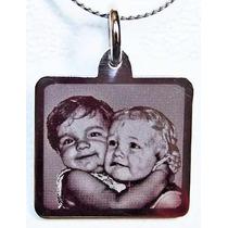 Foto Medalla Acero Personalizadas 16x19mm Regalo Original