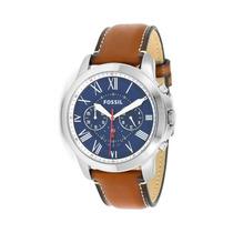 Relógio Masculino Fossil Grant Fs5210/0an Pulseira De Couro